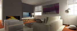 Render Interno salotto